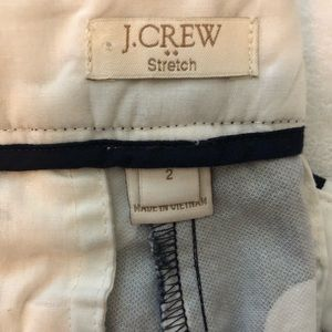 J. Crew Pants - J crew polka dot crop pants